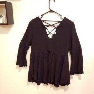 Black flowy blouse